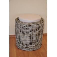 Ratanová taburetka Round-kubu