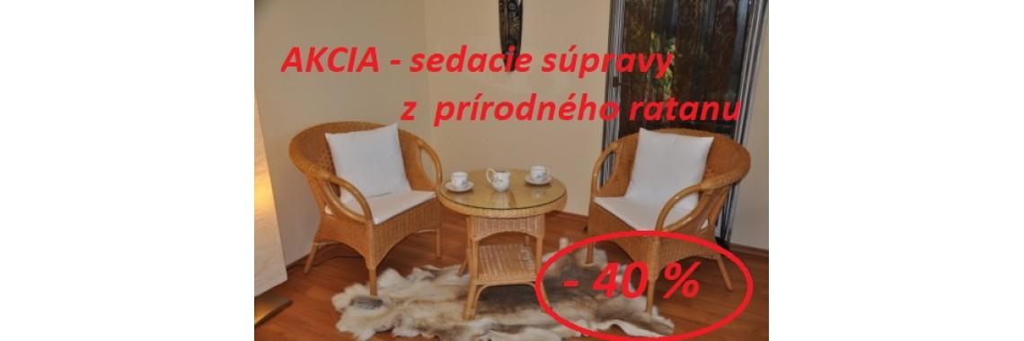 výpredaj ratanového nábytku prírodný ratan