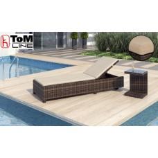 Lehátko Spiaggia na kolieskach + stolík