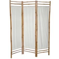 Paravan bambusový s bielym plátnom