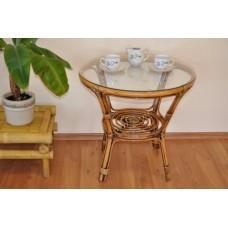 Ratanový stôl Bahama Brown wash