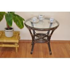 Ratanový stôl Bahama hnedý