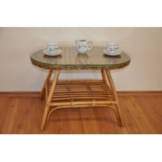 Ratanový stôl Fabion ovál , brown wash