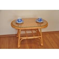 Ratanový stôl Fabion ovál,medový