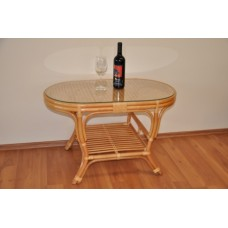 Ratanový stôl Kina , oválny