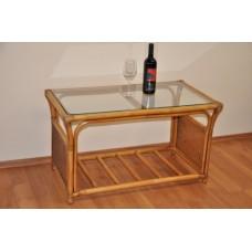 Ratanový stôl Oliver veľký, brown wash