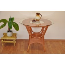 Ratanový stôl Wanuta , koňak