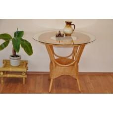 Ratanový stôl Wanuta , medový