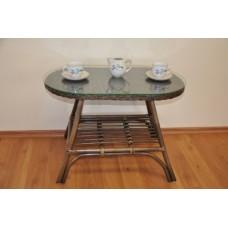 Ratanový stôl Fabion ovál,hnedý