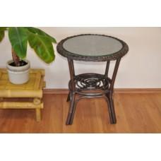 Ratanový stôl Fabion,hnedý